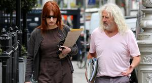 Close colleagues: MEPs Clare Daly and Mick Wallace are both members of the Independents 4Change party. Photo: Tom Burke