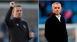 Dundalk manager Vinny Perth received a call from Jose Mourinho after tonight's game.