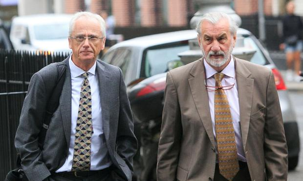 Critics: Sport Ireland CEO John Treacy (left) and chairperson Kieran Mulvey arrive at Leinster House for the Oireachtas Committee on Sport. Photo: Gareth Chaney, Collins
