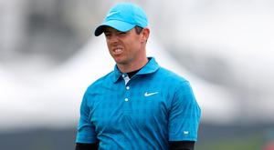 Rory McIlroy after his putt on the 1st hole during day one of The Open Championship 2019 at Royal Portrush Golf Club.