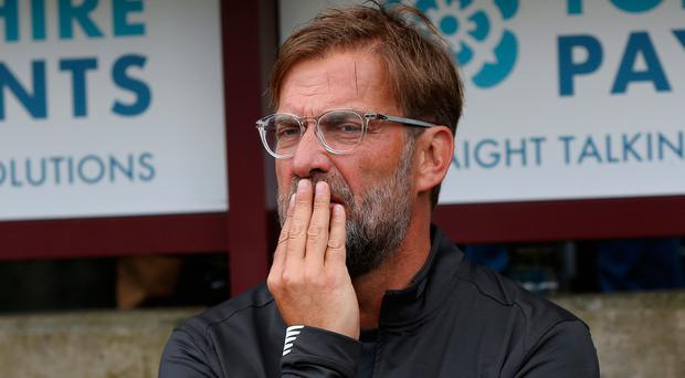 Liverpool manager Jurgen Klopp during the pre-season friendly match against Bradford City at the Utilita Energy Stadium, Bradford last Sunday.