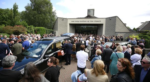 18/7/2019, The funeral of Karl Shields at the Church of Our Lady Mother of the Cross in Castleknock. Picture credit; Damien Eagers / INM