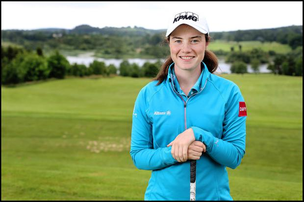 Leona Maguire at The Slieve Russell Golf and Country Club in Cavan. Photo by Steve Humphreys 5th July 2019