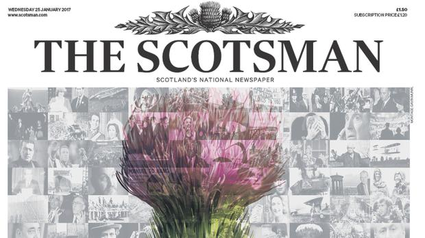 The Scotsman's front page. Photo: The Scotsman/PA