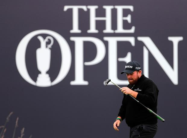 Republic Of Ireland's Shane Lowry on the 18th during day one of The Open Championship 2019 at Royal Portrush Golf Club. Richard Sellers/PA Wire.