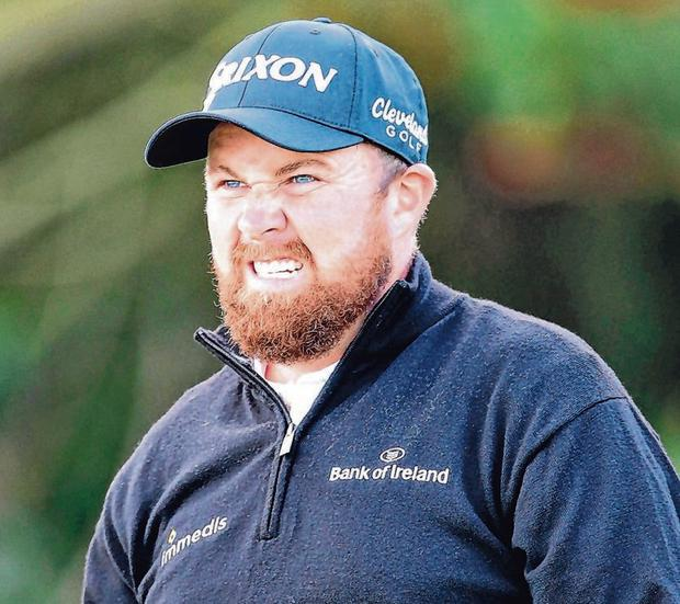Shane Lowry bared his teeth at Portrush with a first round of 67 to put the Offaly man in control at the Open. Photo: Richard Sellers/PA Wire