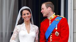 Intangible heritage: Kate Middleton wore Carrickmacross lace, an Irish tradition, on her wedding day. PHOTO: PA