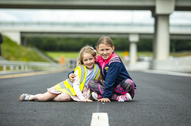 Milestone: Halle Casey and Sinéad Kehoe at the opening of the new motorway yesterday. Photo: Patrick Browne