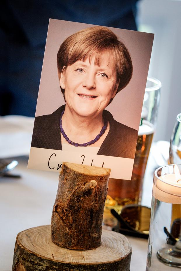 The signed picture of Angela Merkel which came with a letter full of advice about marriage. Photo: Ronan Palliser
