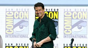 Tom Cruise speaks at the