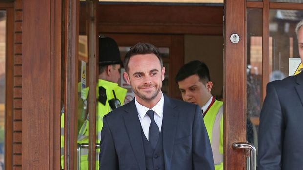 TV presenter Ant McPartlin (Jonathan Brady/PA)