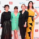 Helen McCroy, Charlene McKenna, Sophie Rundle and Natasha O'Keeffe attend the premiere of the 5th season of
