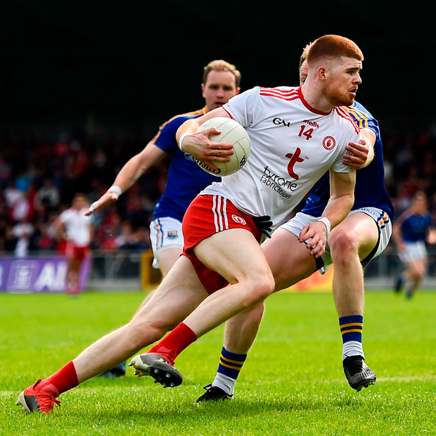 Cathal McShane has led the full-forward line for Tyrone on his own, but will need more support at the business end of the Championship. Photo: Sportsfile