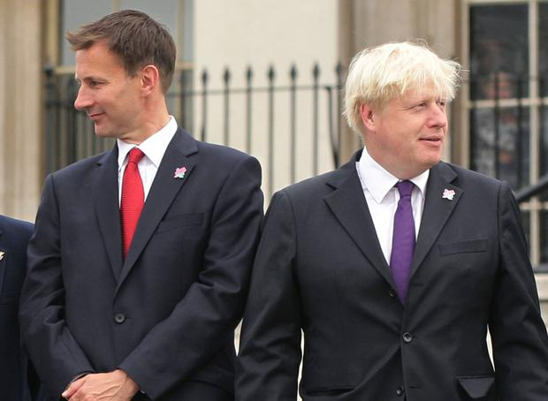 Boris Johnson and Jeremy Hunt. Photo: PA