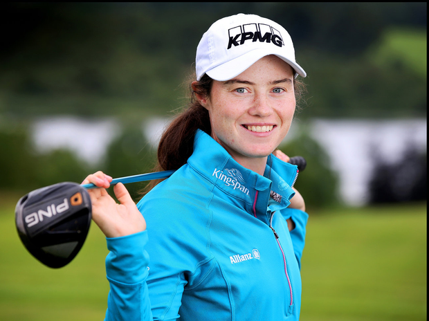Rising star: Leona Maguire is third on the money list in just her first season on the Symetra Tour. Photo: Steve Humphreys