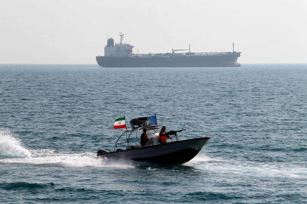 Gulf clash: Iranian Revolutionary Guards are believed to have forced two tankers into port. Photo: ATTA KENARE/AFP/Getty Images