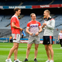 Cork players walk the pitch prior to the GAA Football All-Ireland Senior Championship Quarter-Final Group 2 Phase 2 match between Cork and Tyrone at Croke Park in Dublin. Photo by David Fitzgerald/Sportsfile