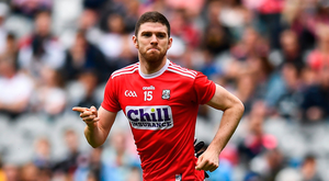 Luke Connolly of Cork celebrates after scoring his side's first goal inside 15 seconds