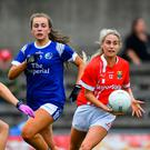 Orla Finn of Cork in action against Kate McIntyre, left, and Niamh Keenaghan of Cavan