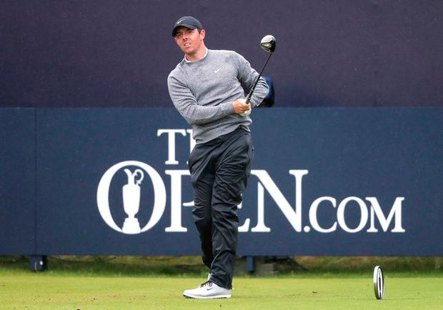 Northern Ireland's Rory McIlroy tees off the 1st during day two of The Open Championship 2019 at Royal Portrush Golf Club. Photo: Niall Carson/PA Wire