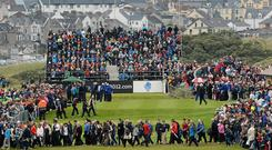 "The continuity around Royal Portrush struck Graeme McDowell on his return: ""Ninety per cent of the golf course remains exactly how I remember it."" Photo: Oliver McVeigh / Sportsfile"