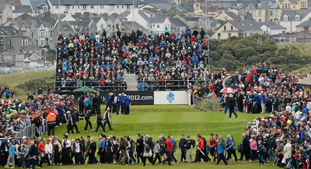 """The continuity around Royal Portrush struck Graeme McDowell on his return: """"Ninety per cent of the golf course remains exactly how I remember it."""" Photo: Oliver McVeigh / Sportsfile"""