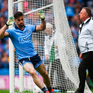 Michael Darragh Macauley of Dublin after scoring his side's second goal