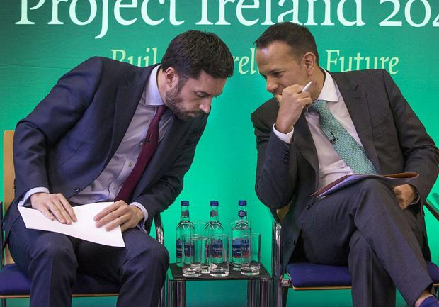Housing a key challenge for Minister Eoghan Murphy and Taoiseach Leo Varadkar, pictured at the Project Ireland 2040 launch. Photo: Colin O'Riordan