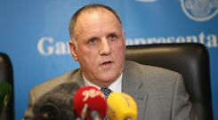 SECURITY ISSUE: Pat Ennis, general secretary of the GRA. Picture: Frank McGrath