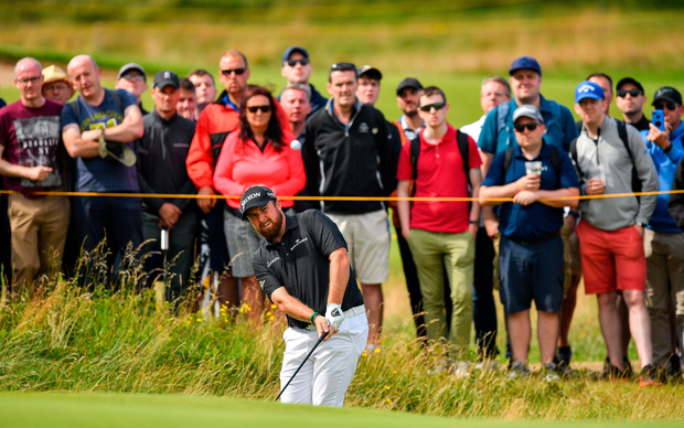Shane Lowry at Royal Portrush, Co Antrim, yesterday. Picture: Sportsfile