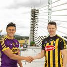 Wexford and Kilkenny senior hurling captains Lee Chin (joint captain) and TJ Reid. Photo Mary Browne.