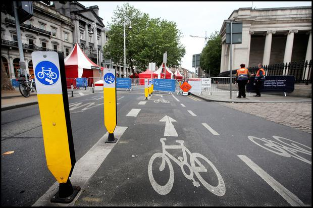 College Green is pedestrianised for the day Pic Steve Humphreys 21st July 2019