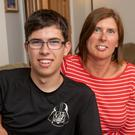 Powerless: Eithne Bracken with her son Eoin (15). Photo: John Allen/Provision