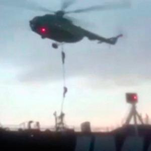Seized: Iran issued this footage of its special forces boarding the British ship on Friday. Photo: Revolutionary Guard/PA Wire