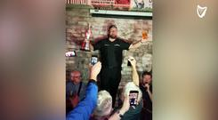 Shane Lowry celebrates his Open success