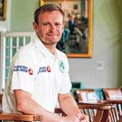 Ireland captain William Porterfield in the Pavilion Long Room during a training session at Lord's. Photo: Matt Impey/Sportsfile