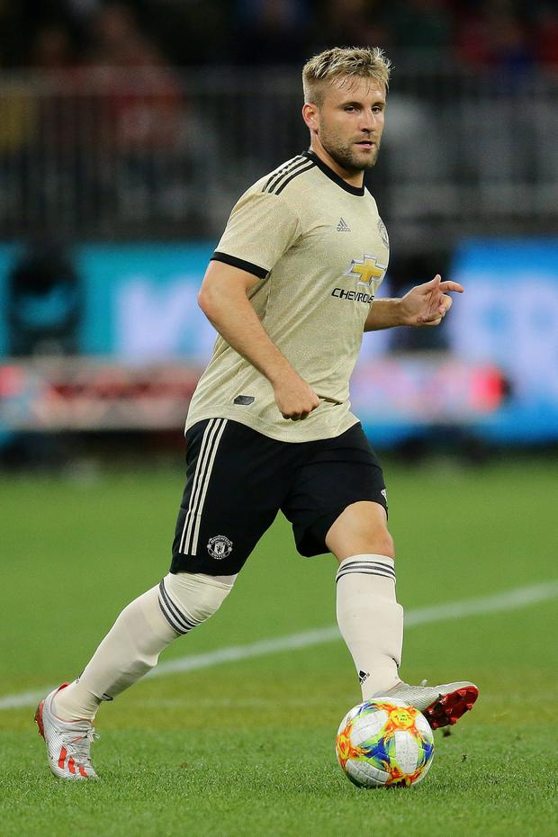 Fresh start: Manchester United defender Luke Shaw says the squad have been working hard on pressing the opposition and keeping possession. Photo: Will Russell/Getty Images