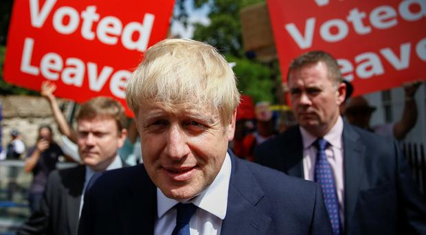 'Like Trump, Johnson is a man of few principles, which means he is more likely to modify his position than many of the true-believing zealots.' Photo: Reuters/Henry Nicholls