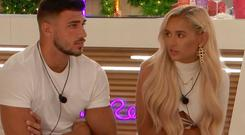 Tommy and Molly Mae on Love Island. PIC: ITV