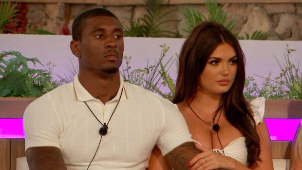 Ovie and India on Love Island. PIC: ITV