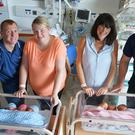 Two sets of triplets have been born within 24 hours at a hospital in Down Photo: Press Association