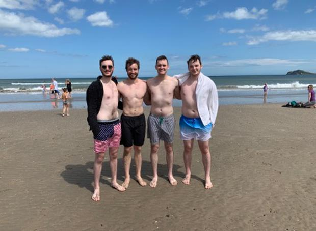 Left to right: Eoghan Butler, Alex Thomson, Walter Butler, and Declan Butler