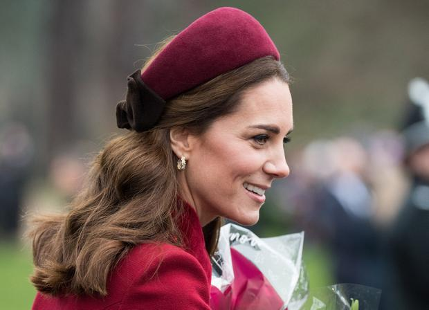 Catherine, Duchess of Cambridge attends Christmas Day Church service at Church of St Mary Magdalene on the Sandringham estate on December 25, 2018 in King's Lynn, England. (Photo by Samir Hussein/WireImage)
