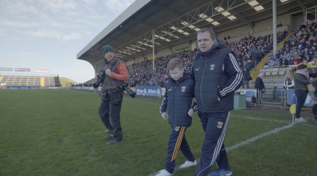 Michael and Davy on Innovate Wexford Park pitch