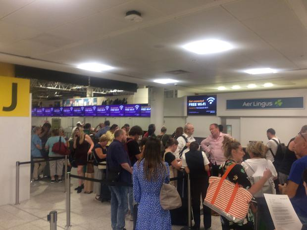 Passengers stranded in London following cancellation of flight