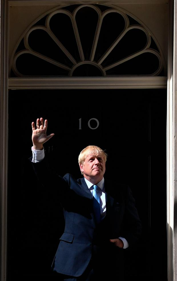 Making waves: Boris Johnson at the door of Number 10 Downing Street. Photo: Getty Images