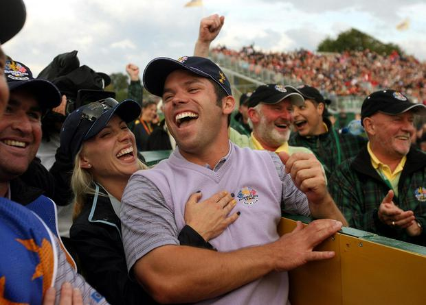 Paul Casey after his hole-in-one at the K Club