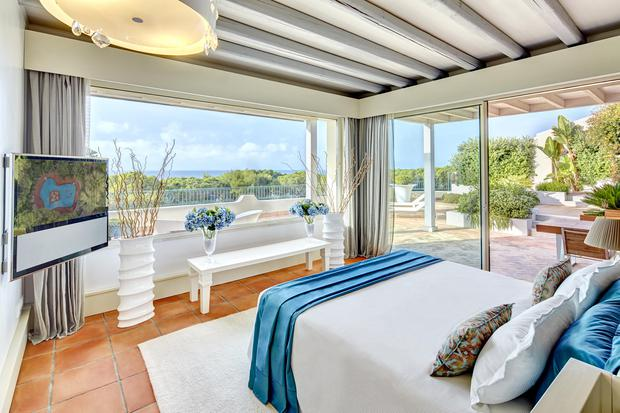 One of the airy seaview bedrooms