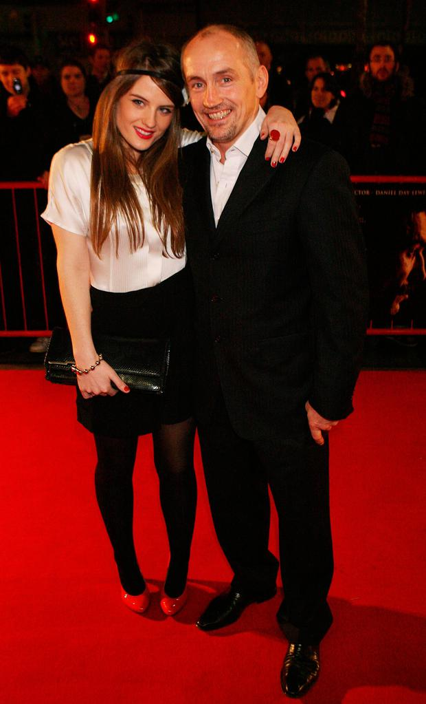 Family: Barry McGuigan with Nika. Photos: PA/Independent collection