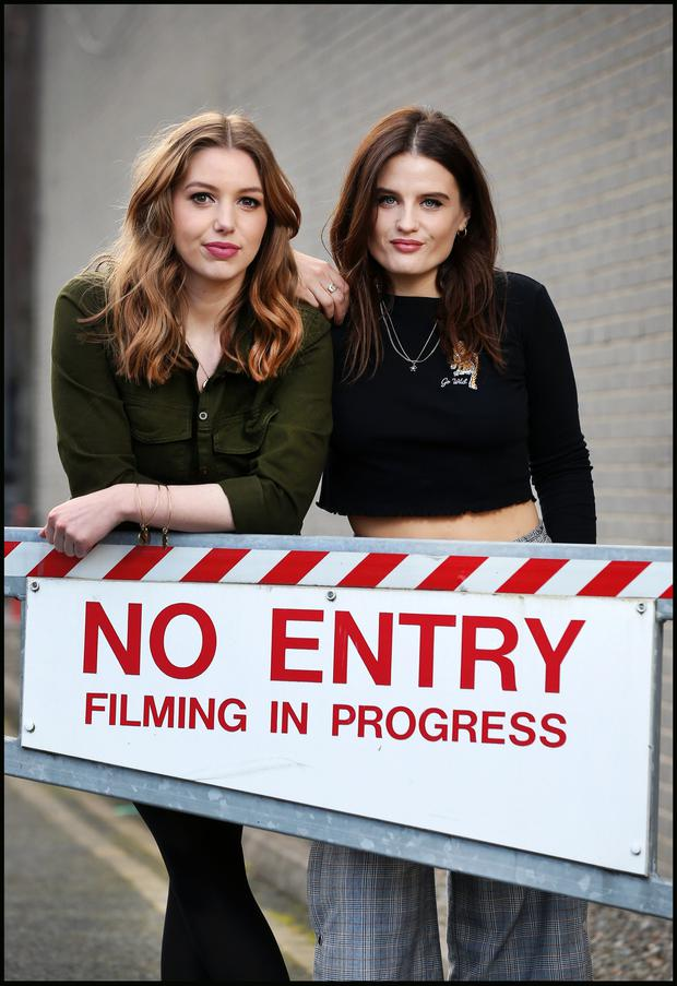 'Brilliant': Tributes were paid to actress Nika McGuigan who starred in RTÉ's 'Can't Cope Won't Cope', written by Stefanie Preissner, and in which she appeared with Seána Kerslake. Photos: Steve Humphreys